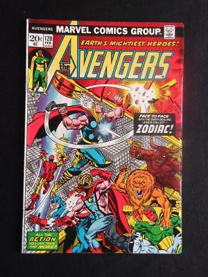 Avengers #120 MARVEL 1974 - HIGH GRADE - Zodiac app - Captain America, Iron Man