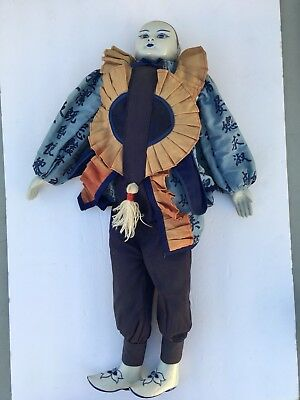 Vintage Fine Quality Porcelain Clown Doll made in Thailand