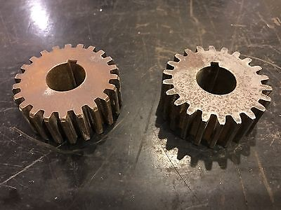 (Lot of 2)Vintage Industrial Steampunk Cast Iron Gear Sprocket Cog