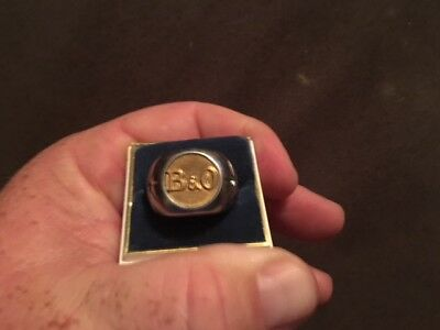 Vintage B & O Railroad Service Mans Brass Button Ring Jewerly Very Rare!!