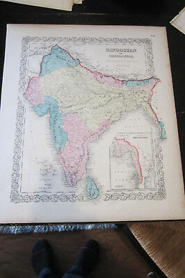 Hindostan or British India, General Atlas by J.H Colton 1860