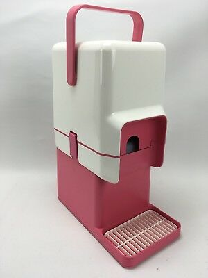 VINTAGE RETRO HOt PINK White DECOR CASK WINE COOLER With Bar Stand Insulated