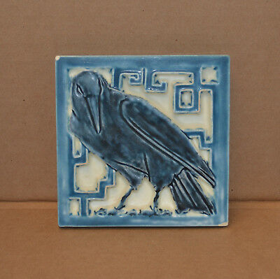 Antique Rookwood Pottery -  Blue Trivet With Raven - Dated 1925 - #1794 - As Is