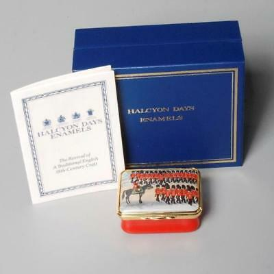 Halcyon Days Enameled Rectangular Trinket Box Trooping The Colour