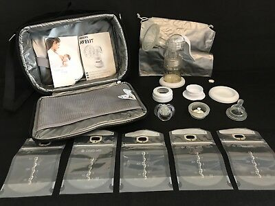 Avent Naturally Isis Manual Breast Pump  + Extras + Insulated Cooler Bag