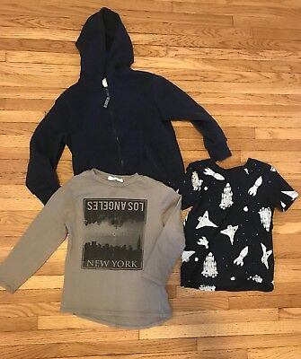 VGUC Toddler Boys H&M Lot 2 Shirts & Sweatshirt 4-6Y 5T