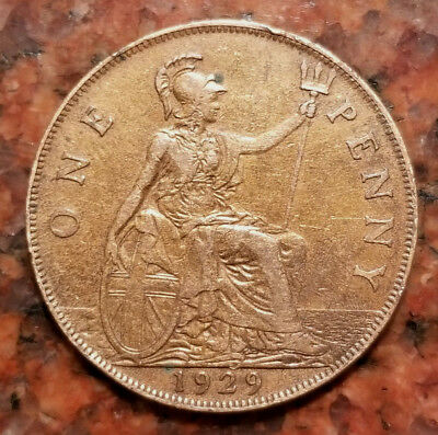 1929 Great Britain One Penny Coin - High Grade - #1807