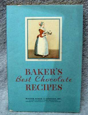 1932 Walter Baker's Best Chocolate Recipes Book