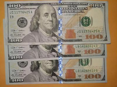 3X Circulated $100 Dollar Bills ($300) - Shipping within 1 business day