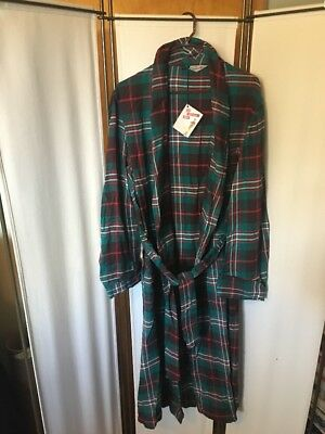 Vintage 40s/50s NWT Men's Green Red Plaid Standard Robe Company Chicago