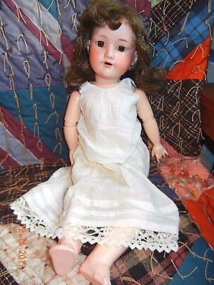 "20"" Armand Marseille 390 A.4.m Antique Bisque Head Doll Composition & Wood Body"
