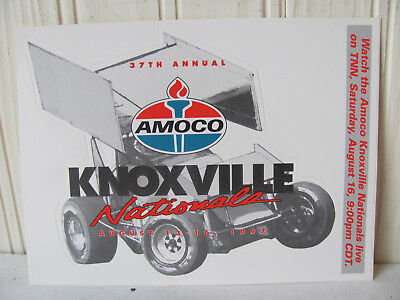 10 1997 AMOCO Knoxville Nationals World of Outlaws Sprint Cars Stickers Gas Oil