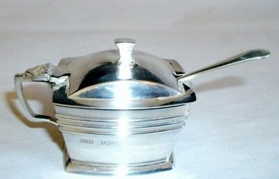 Antique English Sterling Silver Mustard Pot James Dixon & Sons Sheffield