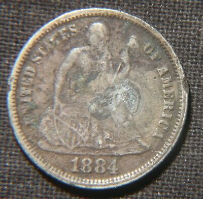 1884 Seated Liberty Dime  Lot 140959
