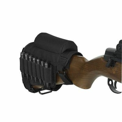 Acid Tactical Rifle Stock shell holder & Padded Cheek Rest Ammo Pouch - BLACK