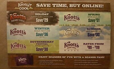 Knotts Berry Farm Discount Coupons 6 Diferent coupons Free Shipping