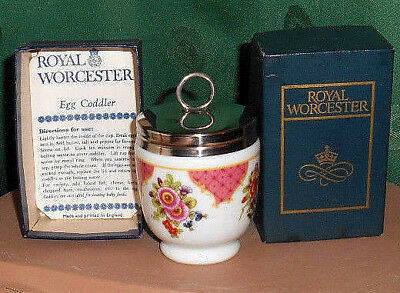 NEUWERTIG - Egg Coddler - Royal Worchester Dekor *Worcester Flowers*