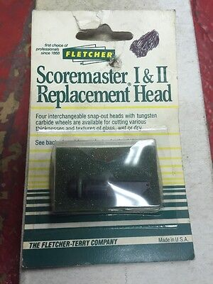 Carbide Glass Cutter Wheel Head - Fletcher ScoreMaster I & II  MADE IN USA