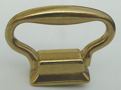 "Solid Brass Carriage Clock Handle Size 1-3/8"" Wide x 1"" High"
