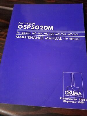 Okuma Cnc System Osp5020M Maintenance Manual
