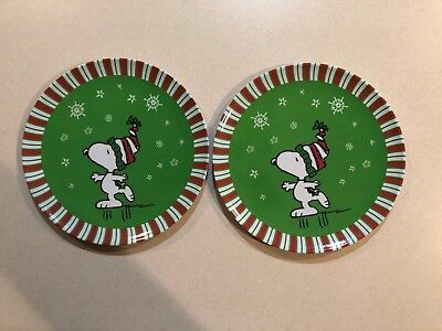 """Peanuts (2) - 8"""" Snoopy Holiday Plates - By:Gibson-Never Used"""