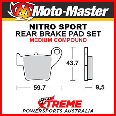 Moto-Master Honda CRF250R 2004-2018 Nitro Sport Sintered Medium Rear Brake Pads