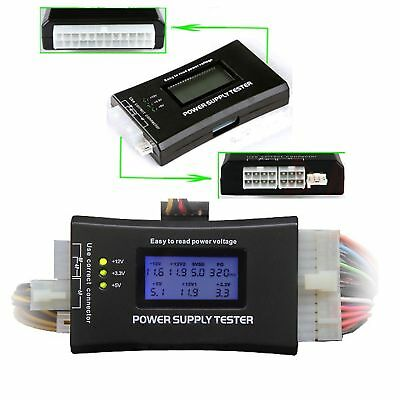 PC LCD 20/24 Pin PSU ATX SATA HD Power Supply Tester UK seller  #222