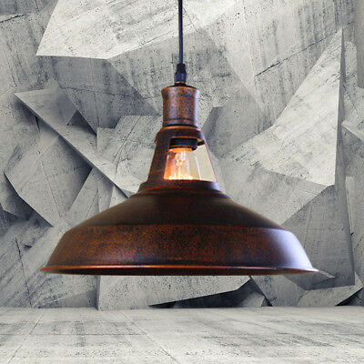 Copper Antique Industrial Barn LED Hanging Pendant Light with Metal Dome Shade