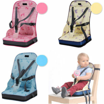 Portable Baby Kid Toddler Feeding High Chair Booster Seat Cover Harness Cushion