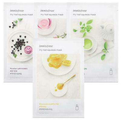 INNISFREE  My Real Squeeze Mask Sheet 20mL 7 PCS SET- 18 kinds / Made in Korea