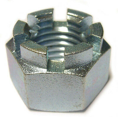 50 - M16 Castle Nuts, Zinc Plated - METRIC.