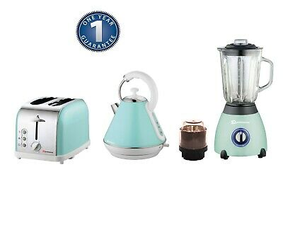 Matching Kitchen Set 1.8L Electric Cordless Kettle Toaster 500W Blender SF Green