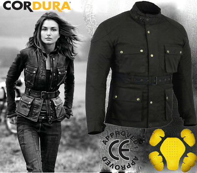 Ladies Womens Motorbike Motorcycle Waterproof Textile Cordura  Jacket CE Armours