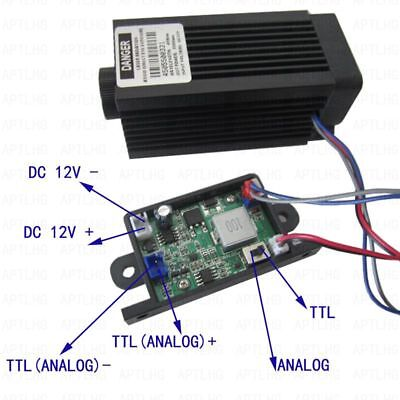 Focusable Analog & TTL 5.5W 5500mW 450nm blue laser module Engrave cutter