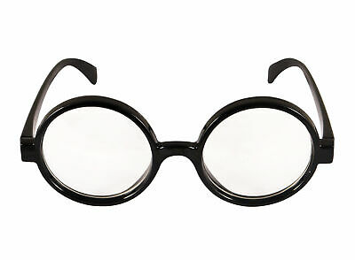 Wizard Glasses - Clear Lens Harry Potter Fancy Dress Retro Where Wally Geek