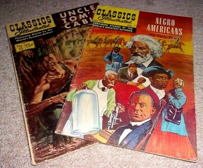 LOT,CLASSIC ILLUSTRATED,UNCLE TOM's CABIN,CIVIL WAR,SLAVERY,FREDERICK DOUGLAS