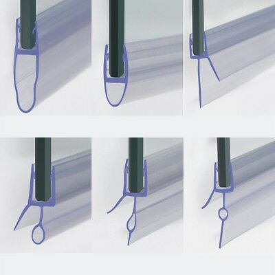 Bath Shower Screen Door Seal Strip for Glass Thickness 4 - 6mm Seal Gap 4 - 26mm