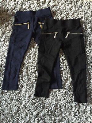Pair Of Girls Next Trousers Age 3