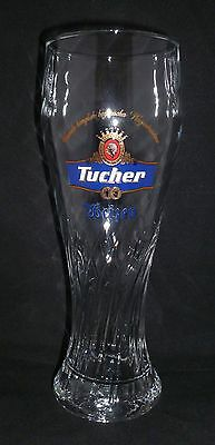 Tucher Beer Glass - 0.3 L - 7-3/4 inches tall - Great Barware for Super Bowl!