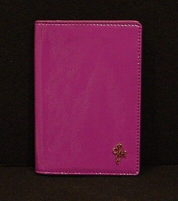 NWT Cole Haan Passport Holder Purple Patent Leather  B42699