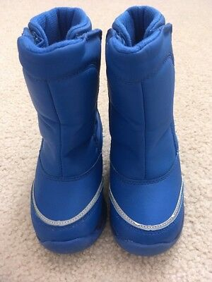 Lands End Kids Ski Snow Boots 9 Blue Winter Toddler Boys Girls