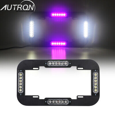 "13.5"" LED Warning Flash Traffic Adviser Strobe License plate lights Amber White"