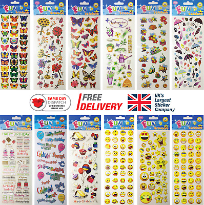 Fun Stickers Children Birthday Party Loot Bag Fillers Kids Decorating Pack C