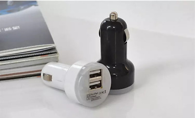 Mini Dual USB Car Charger Adapter Bullet Double USB 2-Port FAST CHARGING ADAPTER