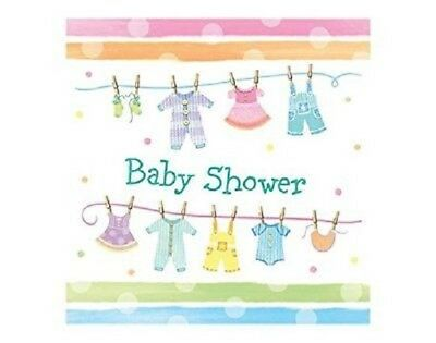 Napkins 'Baby Shower' clothes (set of 18)