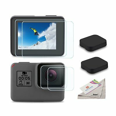 GoPro Hero 6 5 4 Black Ultra Clear Tempered Glass Screen And Lens Protector