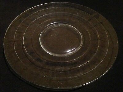 """Depression Glass Hocking """"Block Optic"""" Crystal Clear 10"""" Dinner Plate"""