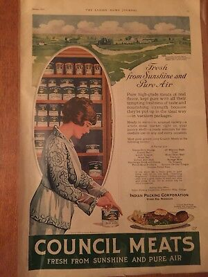 Antique Original 1920 Indian Packing Co. Advertising; Green Bay Packers History