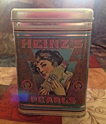 Antique Vintage Heinz Pearls Tin Can