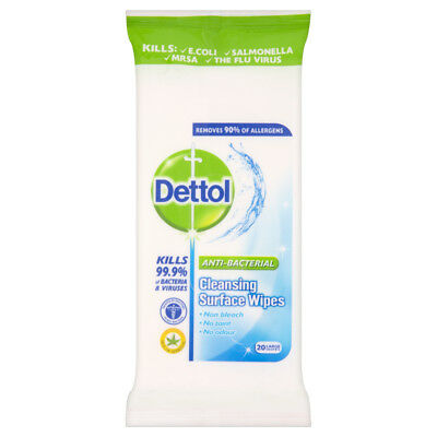 Dettol Surface Cleanser Wipes 20's